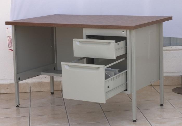 Escritorio met lico para oficina 120 cm em 9301 intermueblespacios - Escritorio metalico ...